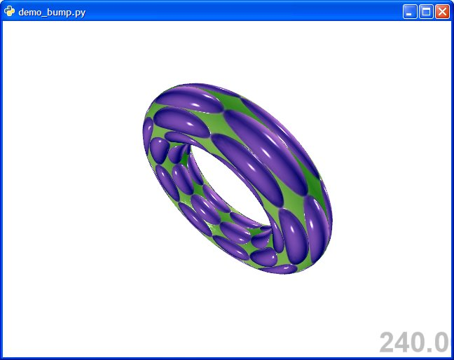 GLSL example 4 bump mapping